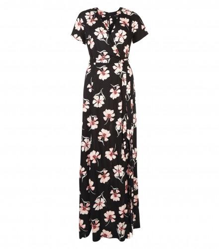 New Look floral wrap maxi dress