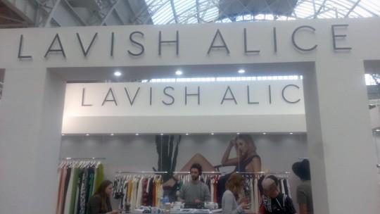 Lavish Alice stand at Pure London Fashion AW16