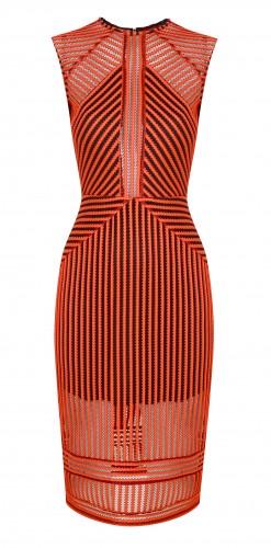 Topshop Airtex stripe midi dress
